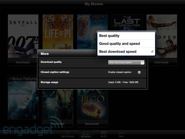 Vudu Player finally allows movie downloads on iPhone, iPad
