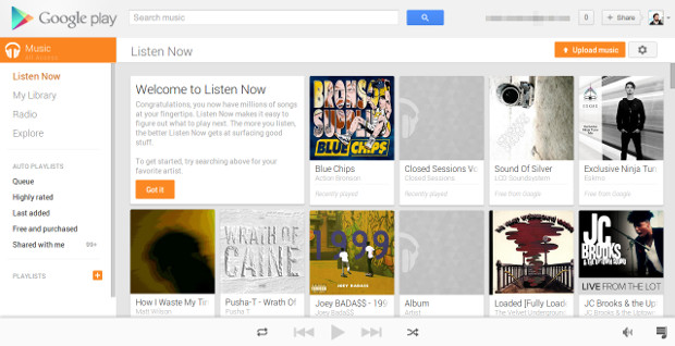Google Play Music All Access handson