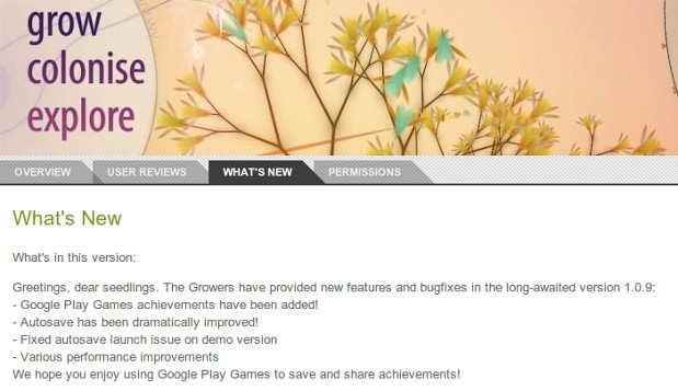 Google Play Games service confirmed by Eufloria HD update