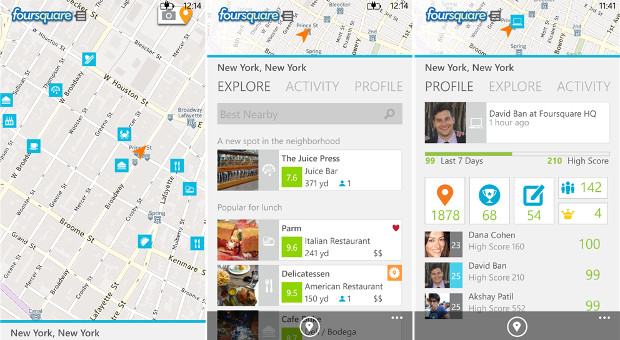 Foursquare checks into Windows 8 with its first native tablet app