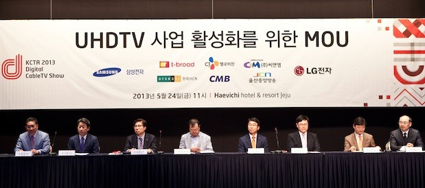 Samsung, LG join forces with Korean cable companies to push UHDTV programming