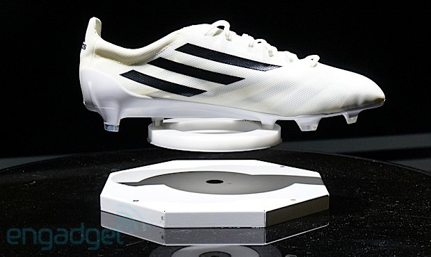 Adidas labs details 99 gram adizero soccer boot and smart ball to help raise your game