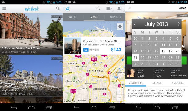 Airbnb updates Android app interface, adds calendar availability and guest preapproval