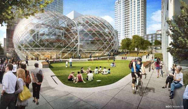 Amazon misses the rainforest, seeks to build a giant greenhouse in downtown Seattle