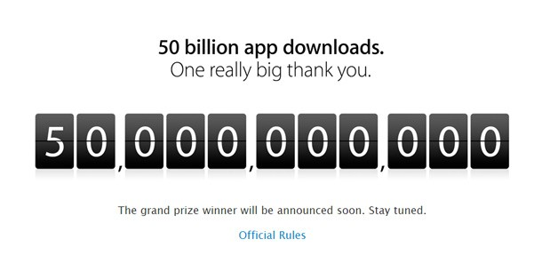 Apple marks 50 billion downloads from the App Store