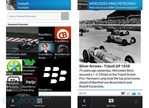 BBM Channels for BlackBerry