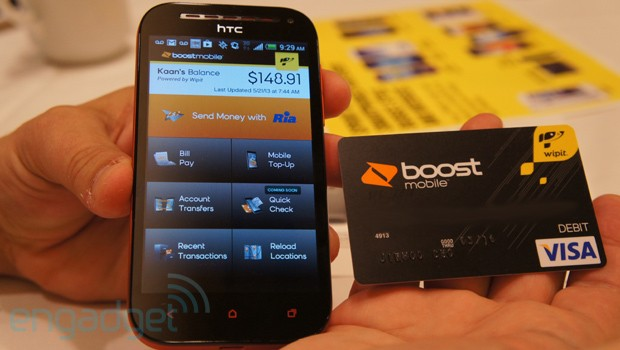 Boost Mobile Wallet app and prepaid Visa handson