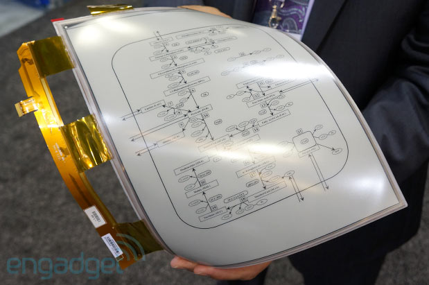Sony's 13.3-inch Digital Paper prototype sports E Ink's Mobius flexible display, we go hands-on (video)