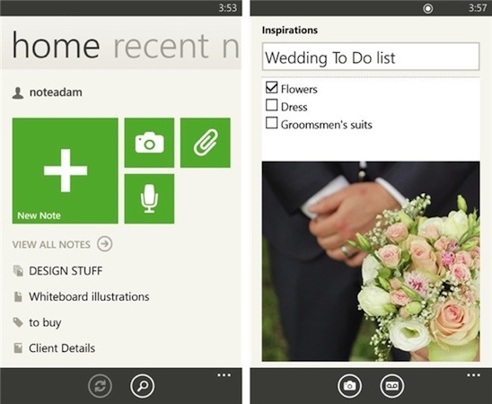Evernote Windows Phone app now lets you pin tool tiles, gets other UI tweaks