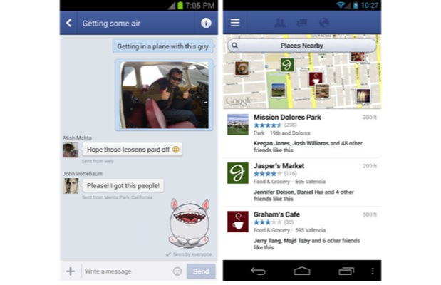 DNP Facebook for Android updated with new business page layouts