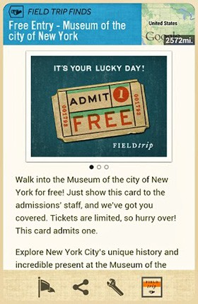 Google's Field Trip app granting free admission to 13 museums