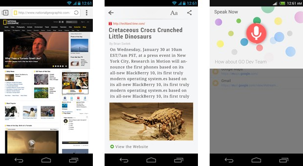 Next Browser for Android mashes up its rivals' greatest hits video