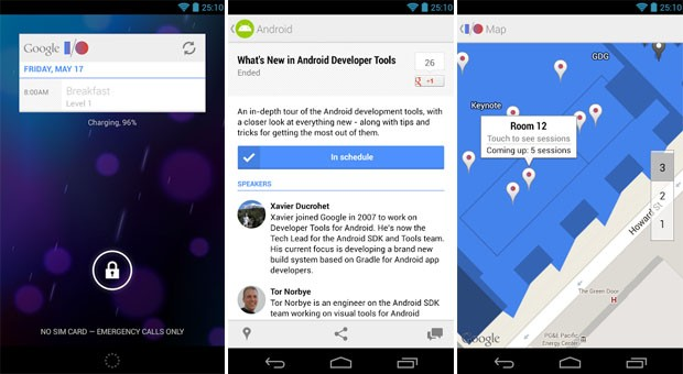Google updates I/O 2013 Android app, details streaming schedule