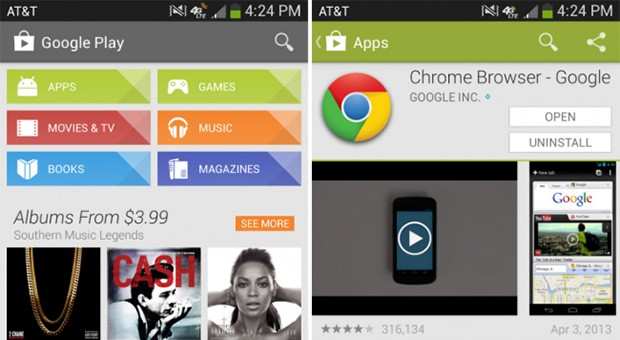 Google Play spruced up in new release, Services app nabs new syncing options