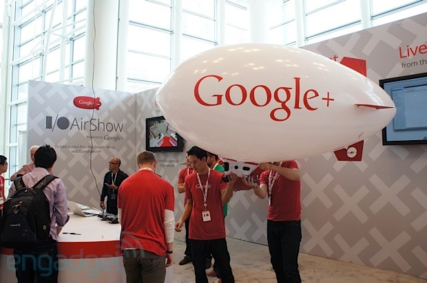 Google AirShow streams IO live from several RC blimps