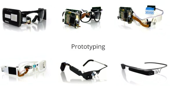 Visualized Google Glass prototypes