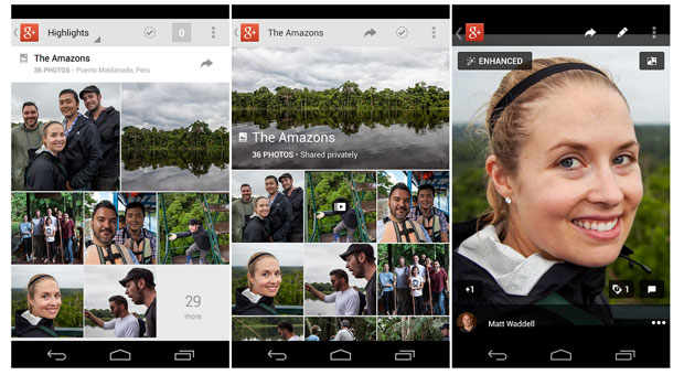 Google Plus app update for Android adds autobackup and enhancement tools for photos