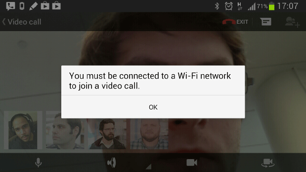 Google+ Hangouts video chat won't connect over AT&T (updated)