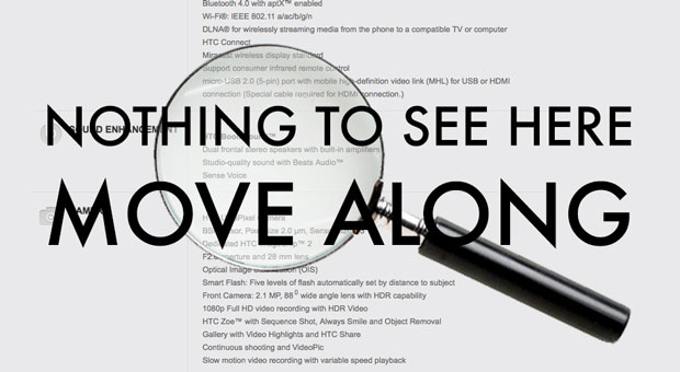 HTC One HDR Mic dropped from spec sheet after Nokia case