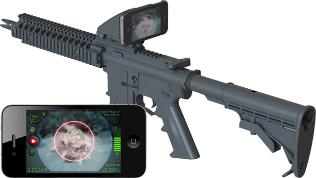Inteliscope because your tactical rifle totally needed an iPhone strapped to it