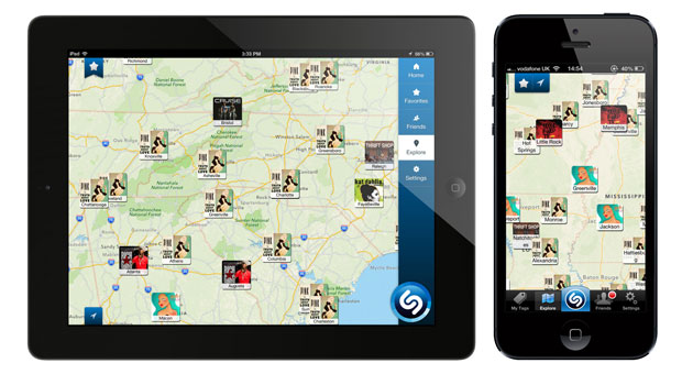 Shazam for iPad gets auto-tagging, trending charts, local maps, Spotify and Rdio integration