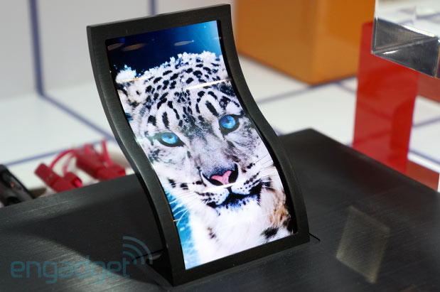 STUB  Eyeson with LG's 5inch flexible display at SID
