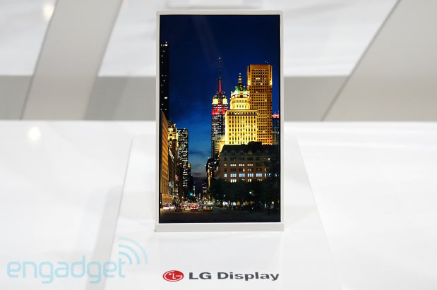 LG's 5inch HD Oxide mobile display has a 1mmslim bezel, we go eyeson at SID