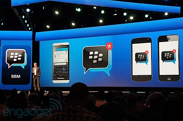 BBM app for iOS and Android won't run on tablets at first