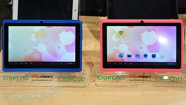 Hands-on with Maxwest's $65 7-inch dual-core ICS tablet at CTIA 2013