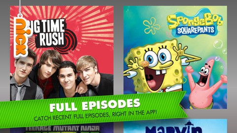 Nickelodeon brings full episodes streaming to iPhone now, Xbox 360 next month