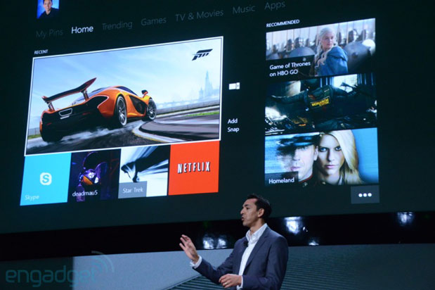 Microsoft shows off Xbox One dashboard, Trending tab for popular content