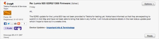 Telstra mentions Windows Phone 8 GDR2 update coming in midMay