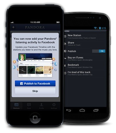 Pandora gets cozier with Facebook, makes it easier to share listening activities to Timeline
