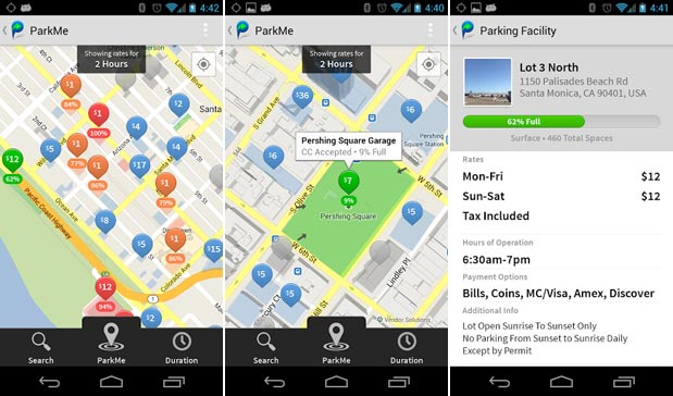 ParkMe's Android app officially launched, ...