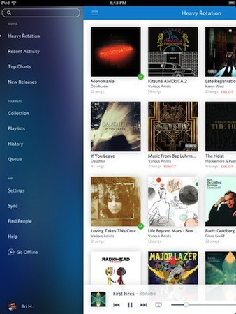Rdio for iOS update brings 'Find People' feature, design improvements to the UI