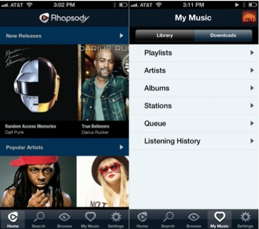 Rhapsody announces new iPhone app, redesigned from the ground up