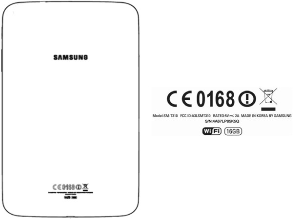 Samsung SM-T310 pops up at the FCC, may be a Galaxy Tab 3 8.0