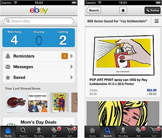 eBay's iPhone app updated with new UI and driver's license scanning