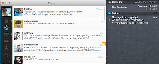 Twitter for Mac 221 brings Notification Center support, various bug fixes