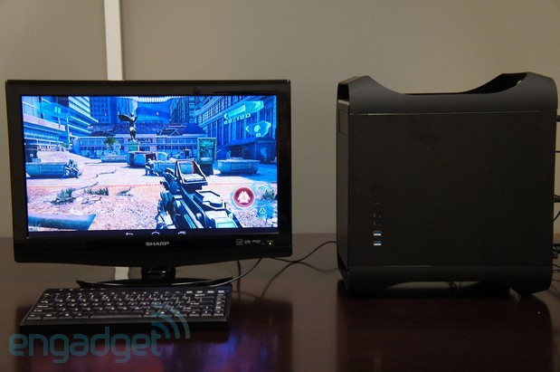 Handson with the iConsoletv, an Androidpowered game system with the heart of a desktop PC