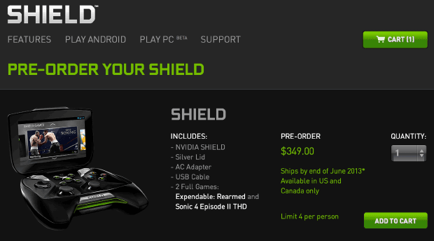 NVIDIA pushes up Shield public preorder date, lets you hop in queue today