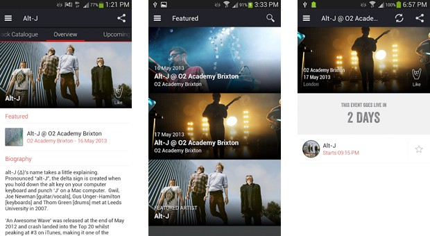 Soundhalo beta for Android lets fans buy concert videos before the show is over