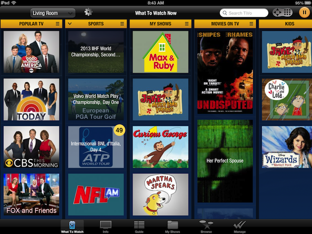 TiVo brings What to Watch Now to its iPad app