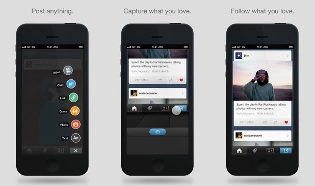 Tumblr updates iOS app to match redesigned Android interface