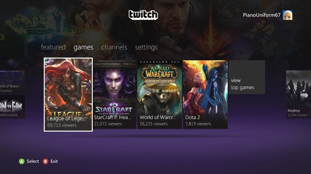 Twitch gaming video platform comes to Xbox 360, watch and play from the same place