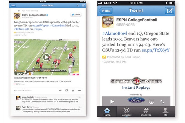 ESPN and Twitter widen their deal for in-tweet video highlights