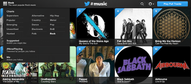Twitter #Music adds additional music charts to aid your musical discovery