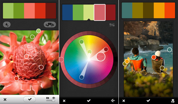 Adobe releases Kuler iPhone app for snapshot color picking, redesigns huecentric web interface