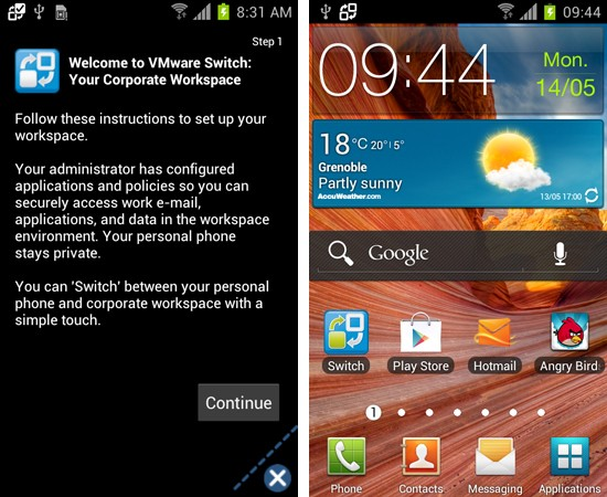 Verizon releases VMware Horizon Mobile virtual workspace on Intuition and Droid RAZR M