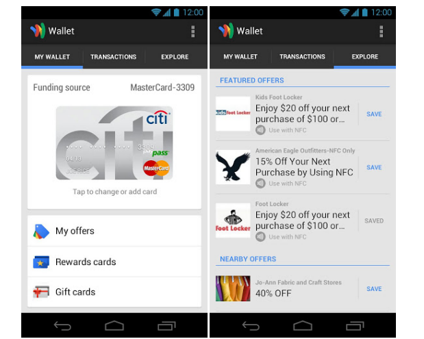 DNP Google Wallet support now ...